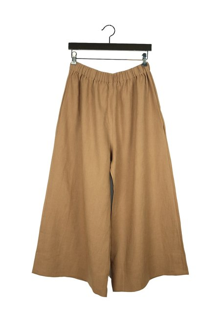 Lauren Winter Wide Pant - Camel Linen