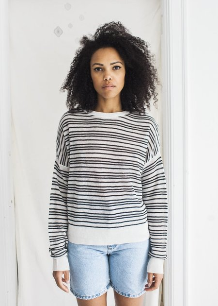 Line Knitwear Riley - Blanc de Noir