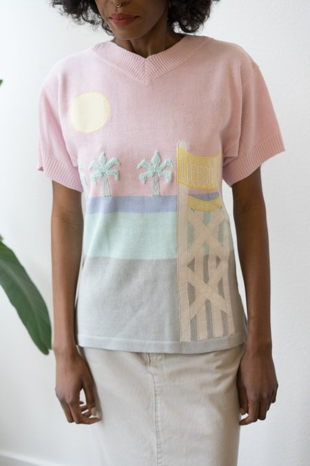 Backtalk PDX Vintage Short Sleeve 80'S Beach Pull Over