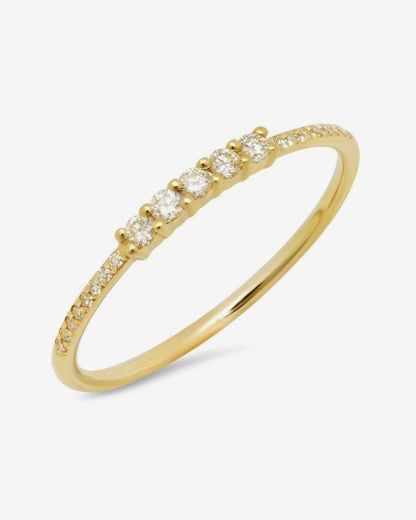Sachi Jewelry 5 Diamond 14k Yellow Gold Band