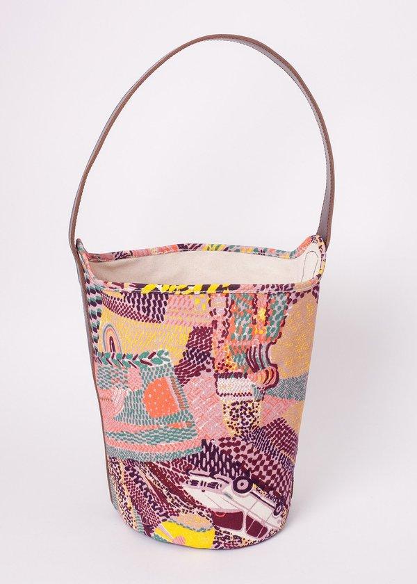 Gravel & Gold Bucket Bag - Tamboro/Wine