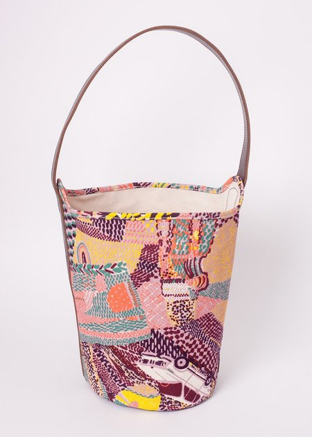 Gravel & Gold Bucket Bag - Tamboro/Wine