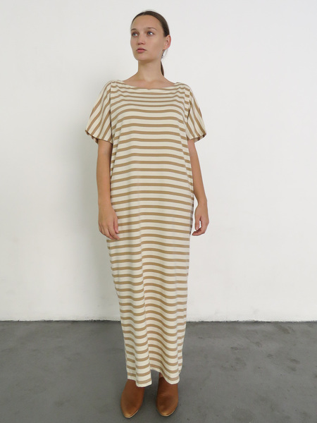KOWTOW BUILDING BLOCK REVERSIBLE DRESS - TAN/NATURAL