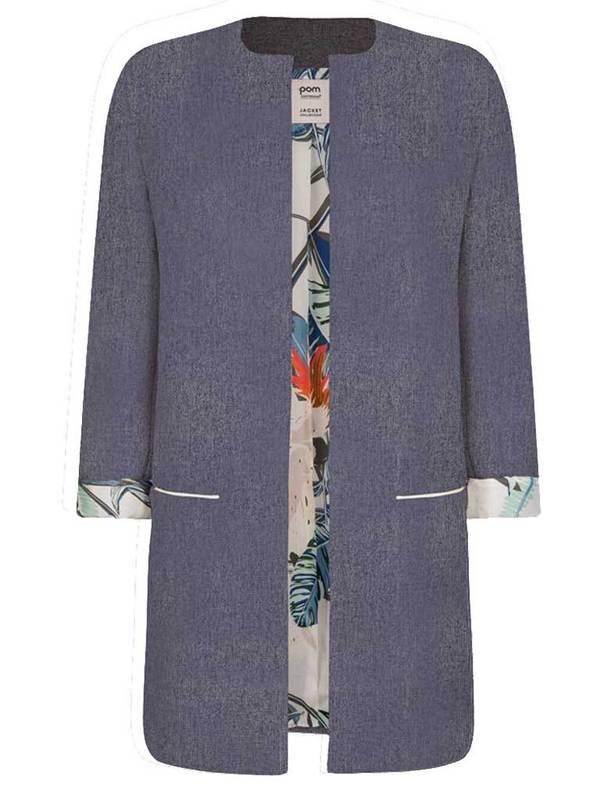 POM DENMARK Pom Lined Jacket - Blue