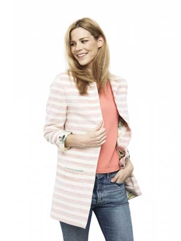 POM DENMARK Pom Striped Jacket in Pink