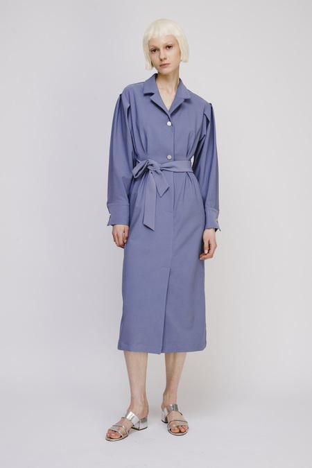 Opusion Long-Sleeve Dress with Belt