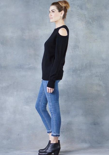 Duffy Cashmere Shoulder Cutout