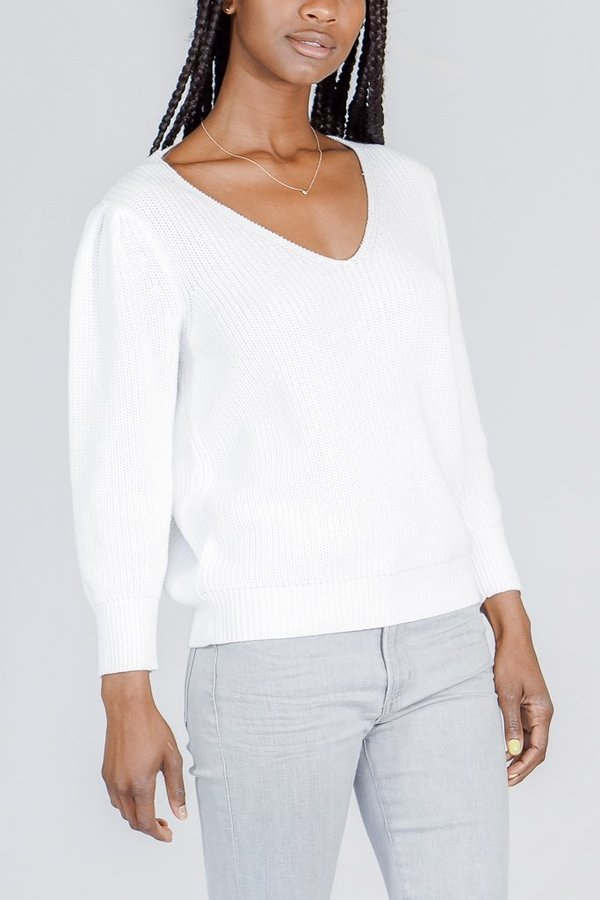 Line Emery Chunk V Neck Sweater
