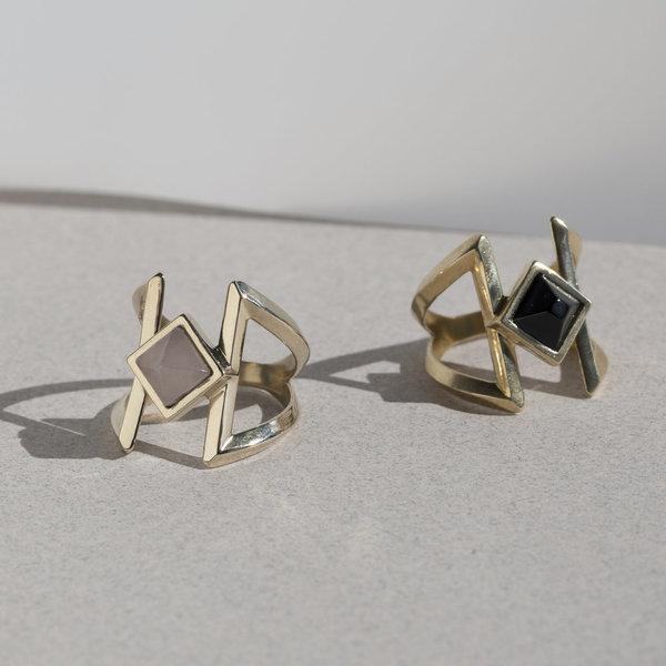 Pyramid Ring - Brass