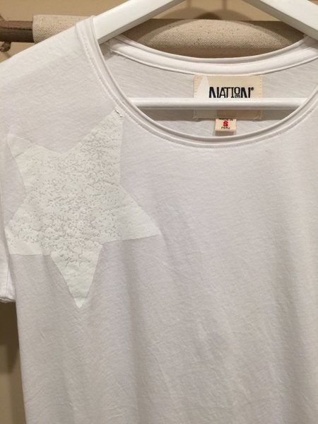 Nation Ltd Little Lucky Star Tee - White