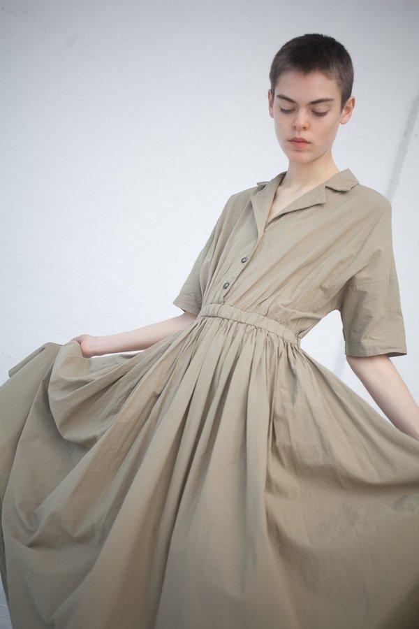 Black Crane Classy Dress - Sage