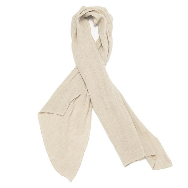 S.K. Manor Hill Long Scarf - Natural