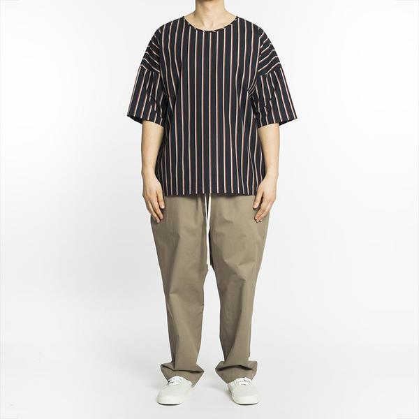 S.K. Manor Hill Palatine Shirt - Navy/Orange Stripe