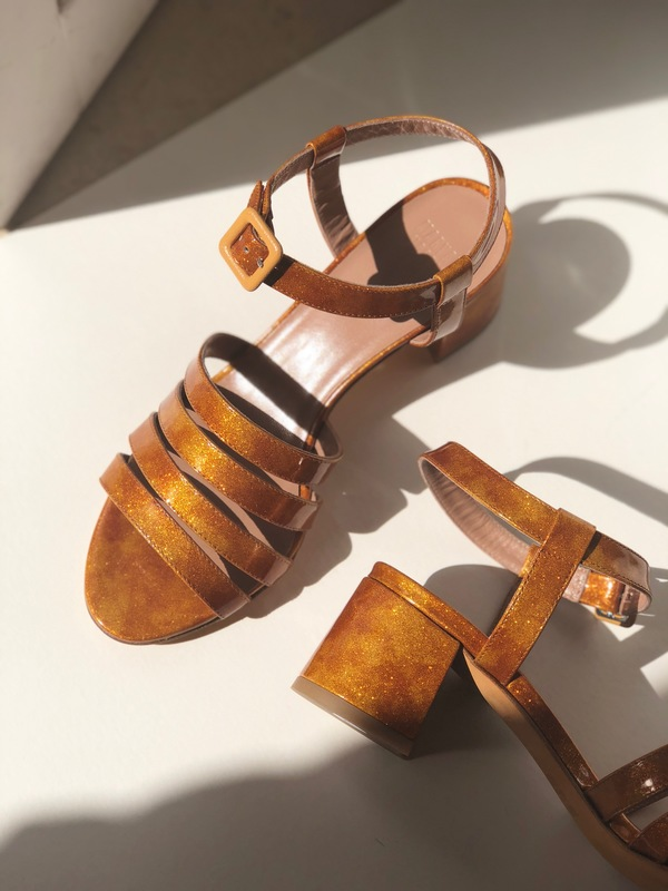 Maryam Nassir Zadeh Palma Low Flame Glitter Sandals