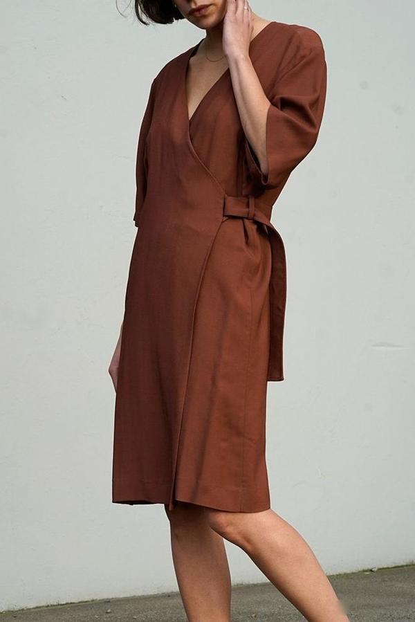 Waltz Wrap Dress in Andorra