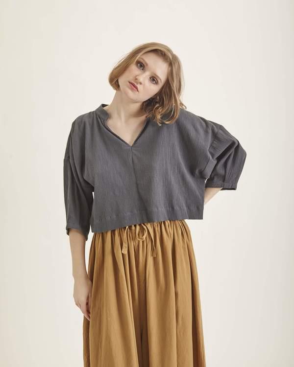 Ilana Kohn Ava shirt - coal