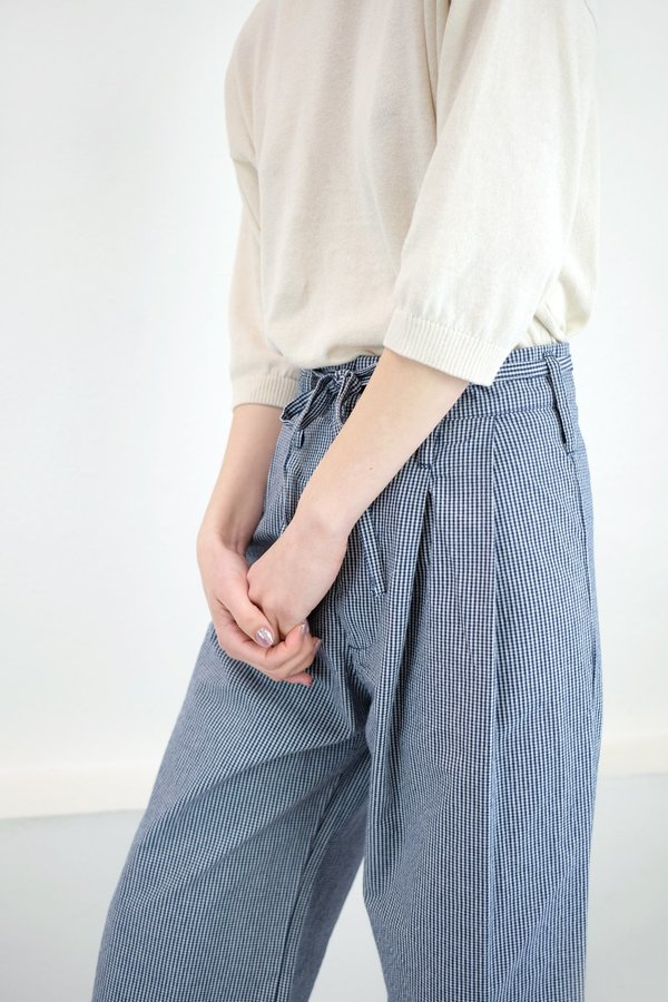 Micaela Greg Tie Wide Pant - Mini Check