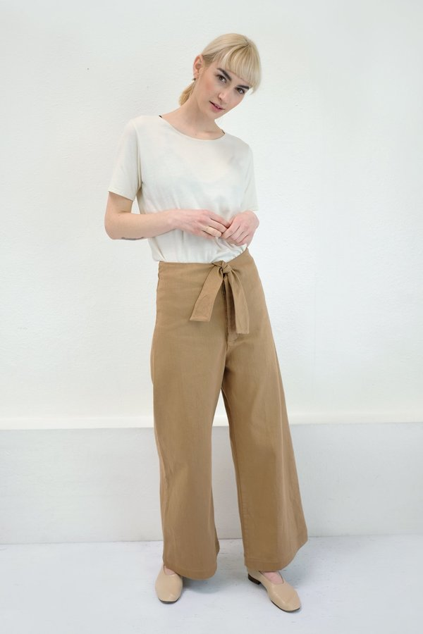 Micaela Greg Knotted Sailor Pant - Camel