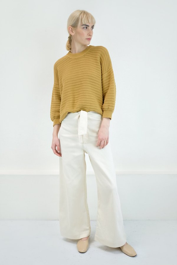 Micaela Greg Roll Rib Sweater - Maize