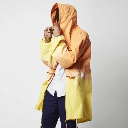 Post-Imperial Overdyed Lightweight Parka - Orange/Yellow