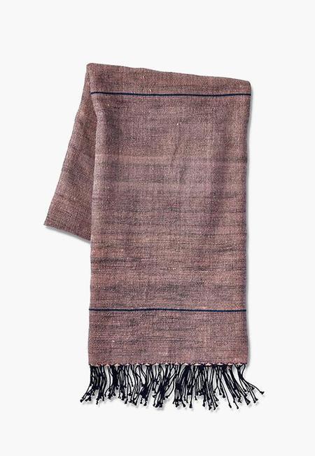 Far & Wide Collective Beach Towel - Light Pink/Grey Stripe