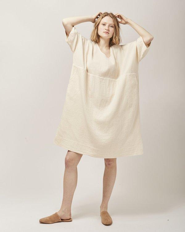 Atelier Delphine Ella shirt dress - kinari white