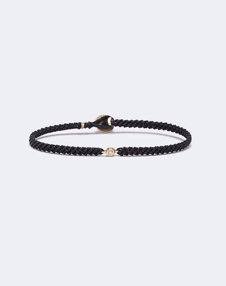 Scosha Classic Diamond Macrame Bracelet - Black