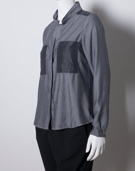 Hope Joy Patch Blouse in Grey