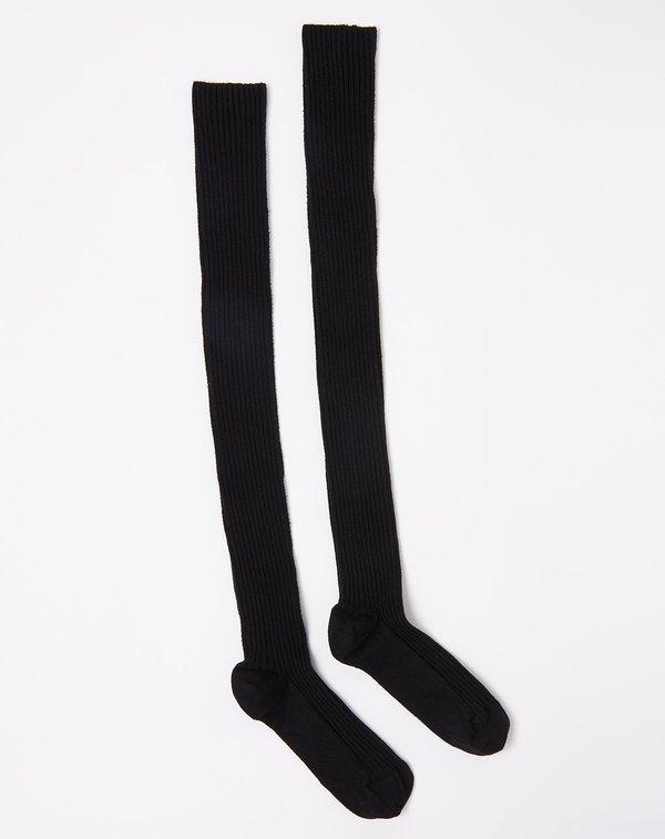 Baserange Overknee Silk Socks in Black