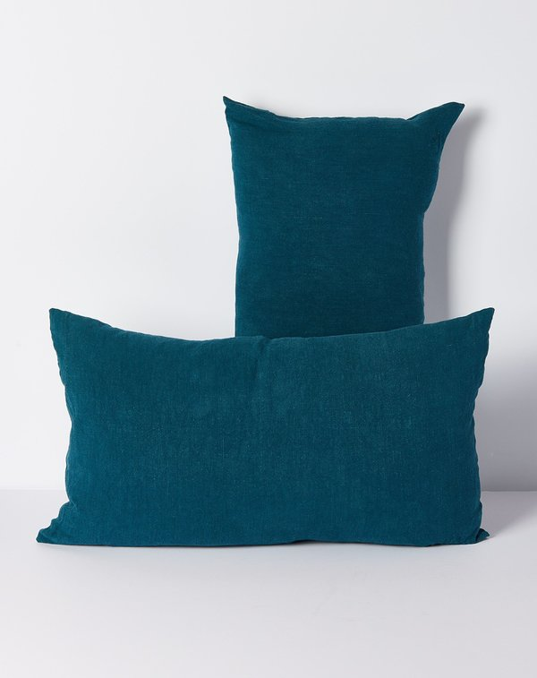 Hawkins New York Simple Linen Pillow in Peacock