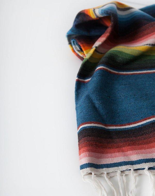 Covet + Lou Vintage Southwestern Striped Blanket - Blue