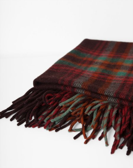 Covet + Lou Vintage Stadium Blanket - Brown Plaid