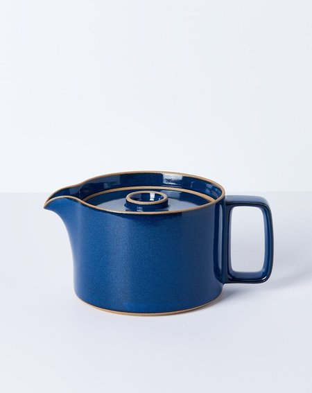 Hasami Porcelain Teapot in Gloss Blue