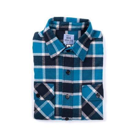 Product of Bob Scales Flannel Work Shirt - Blue Plaid