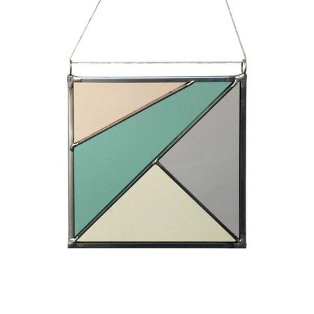 Debbie Bean Stained Glass Square Panel - Spring