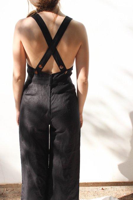 Avenue Linen Jumpsuit - Black