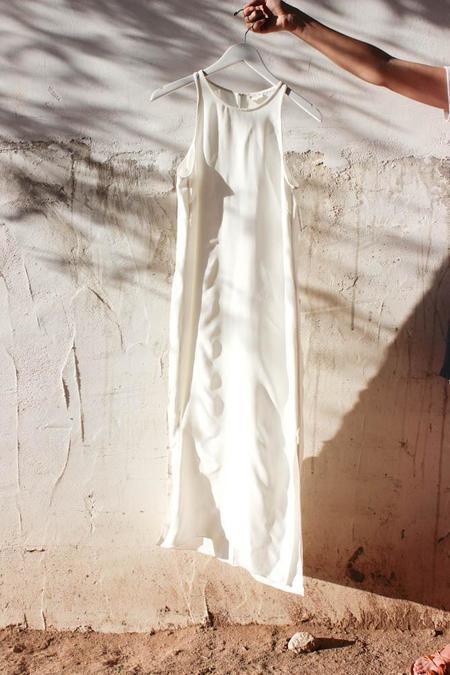 Voz Cami Slip Dress - White