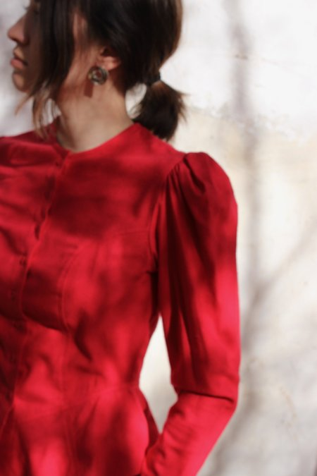 Town rosa blouse - red
