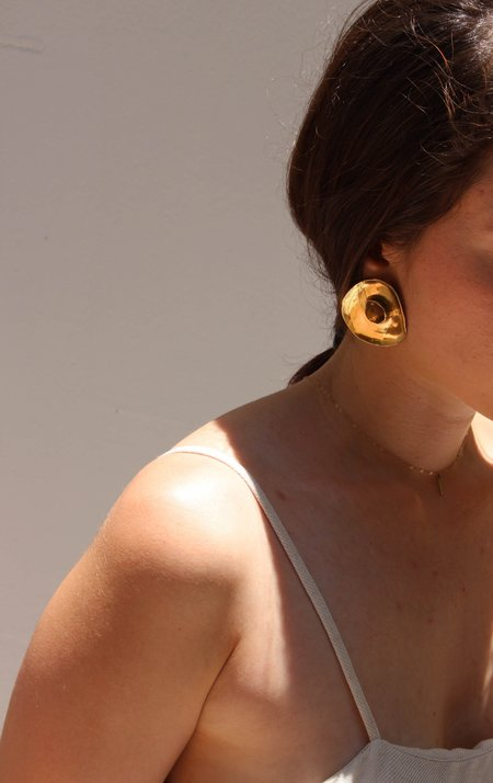 Ariana Boussard-Reifel rosa earring - brass