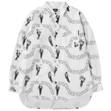 BRAIN DEAD MIXED FEELINGS OXFORD BUTTON UP / WHITE