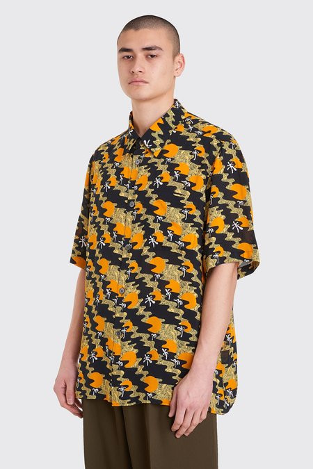 Tres Bien Tourist Viscose Shirt - Sunset Print Orange