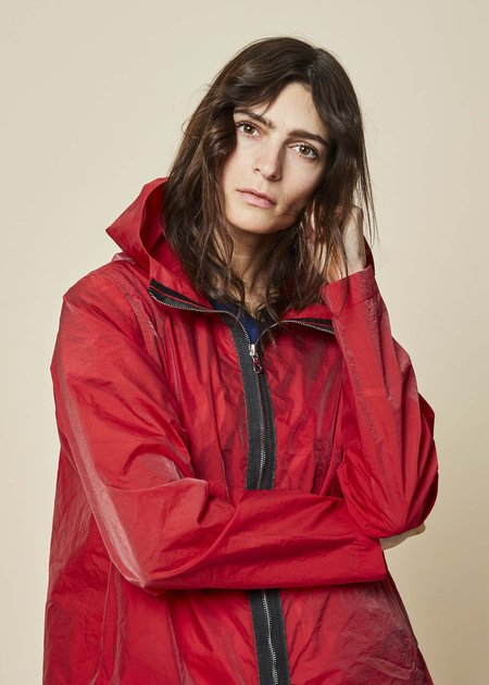 Raffauf A-Line Zip Spring Coat - Red