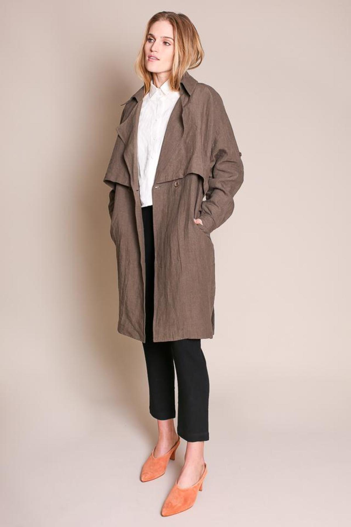 M NARANKA Khaki Double Breasted Trench Coat L S