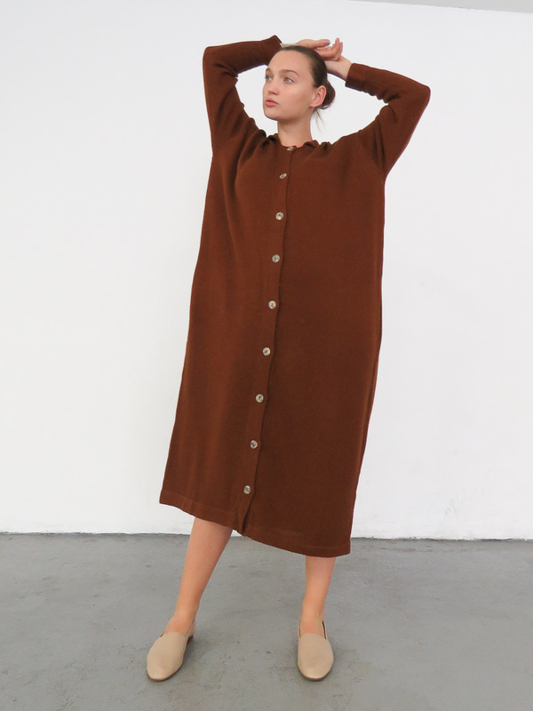 LAUREN MANOOGIAN BIG SHIRT DRESS - TERRA