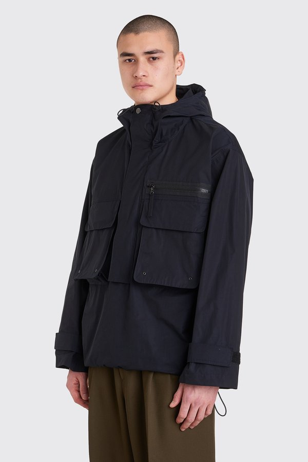 Tres Bien Anorak Cotton Tech Jacket - Dark Navy
