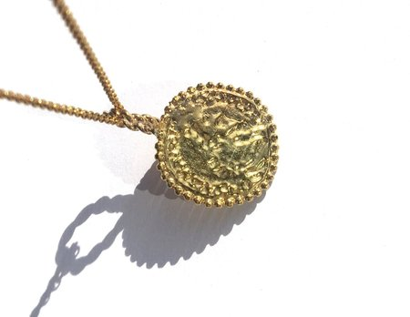 Pamela Card Constantine Plated Medallion Necklace - 24K Gold