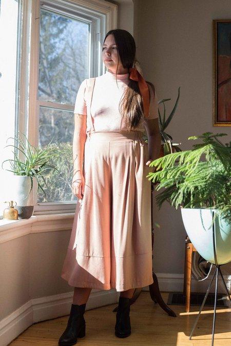 Noemiah x Very Joelle Helene Palazzo Overall Pants - Nude Pink