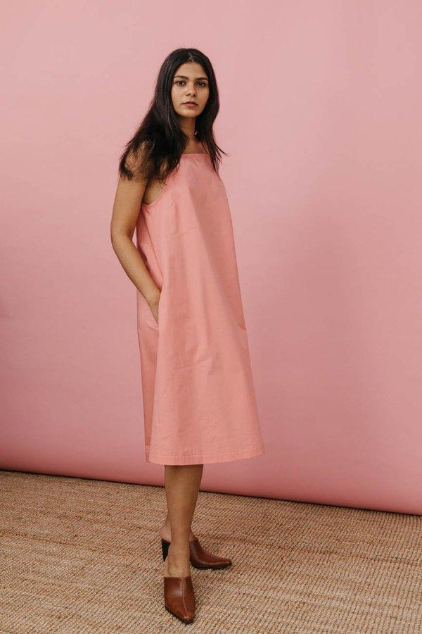 Wolcott : Takemoto Joni Dress in Pink Cotton