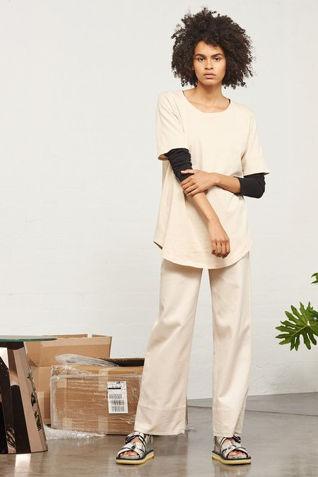 Kowtow Building Block Relaxed Tee in Sand