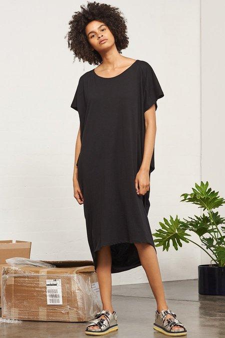 Kowtow Building Block Drape Dress in Black